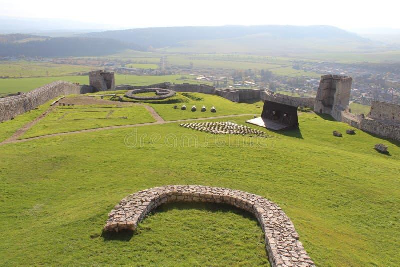 Schloss Spis, Slowakei stockbilder