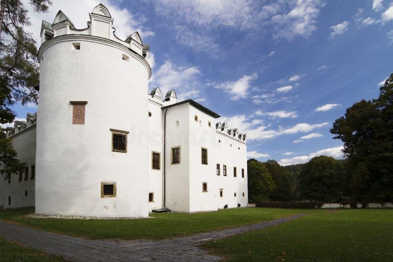 Schloss Strazky stockfotos