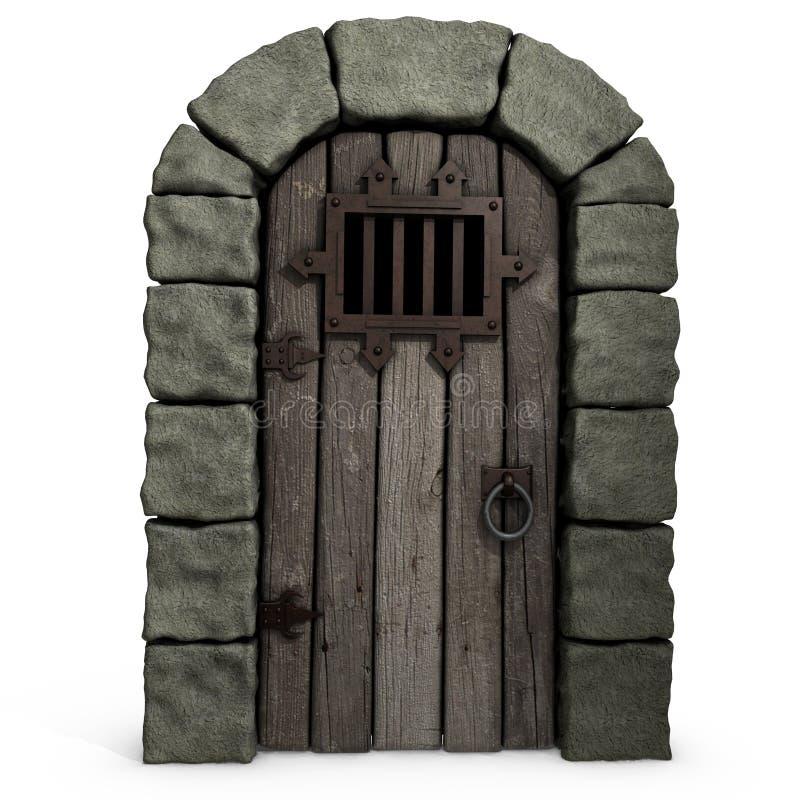 Schloss-Tür. stock abbildung