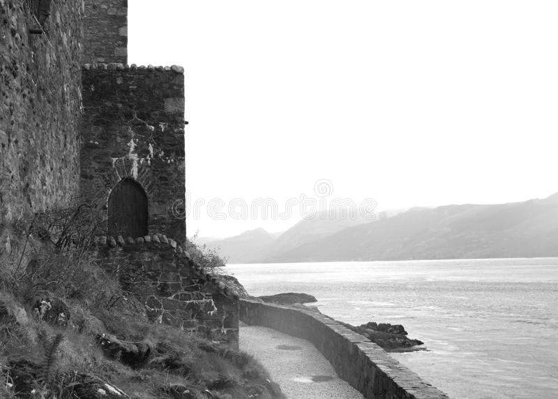 Schloss-Tür bei Eilean Donan stockbilder