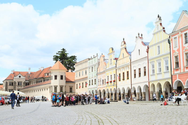 Schloss in Telc lizenzfreie stockfotografie