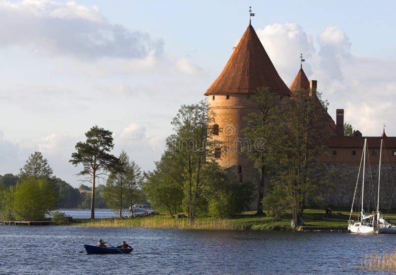 Schloss in Trakai stockfoto