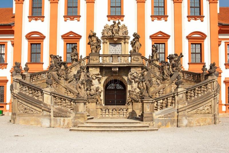 Schloss Troja lizenzfreie stockfotos