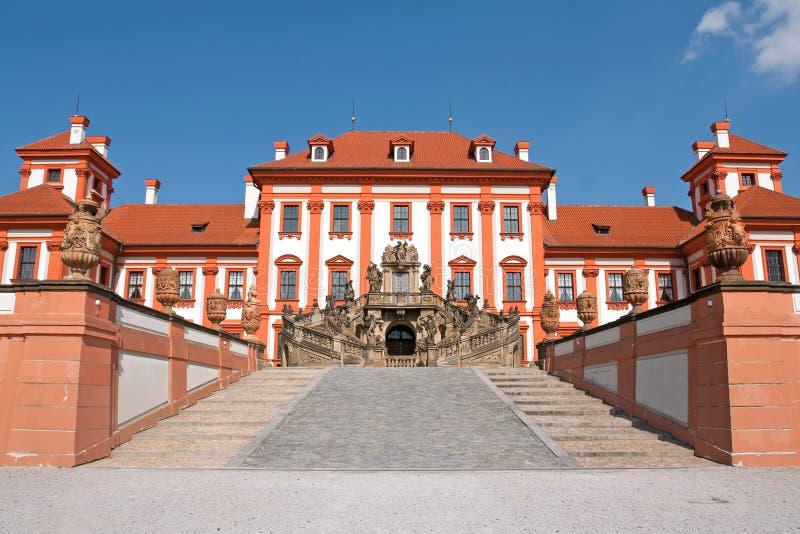 Schloss Troja lizenzfreies stockbild