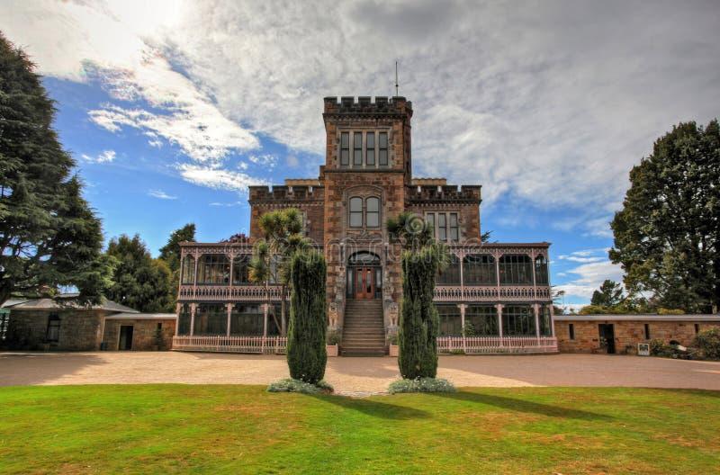 Schloss und Gärten stockfoto