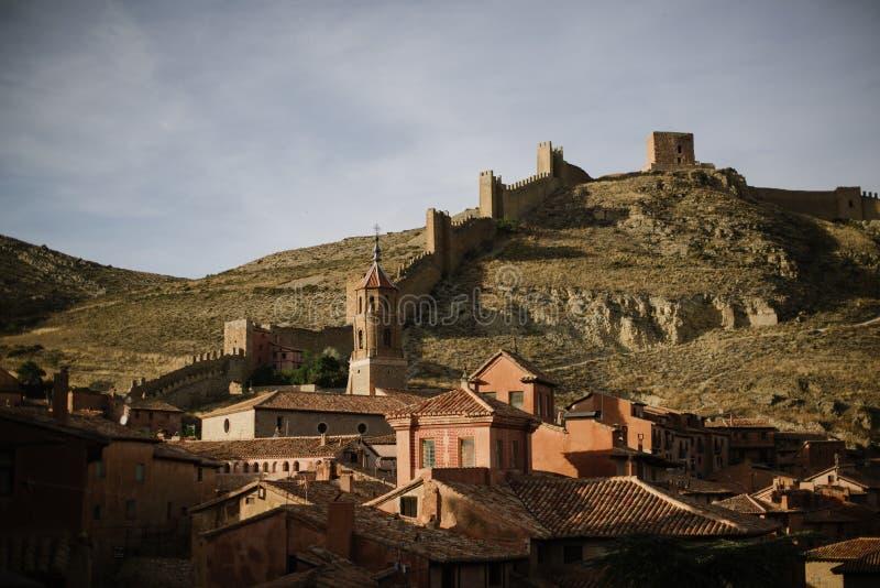 Schloss von Albarracin, Spanien stockbilder