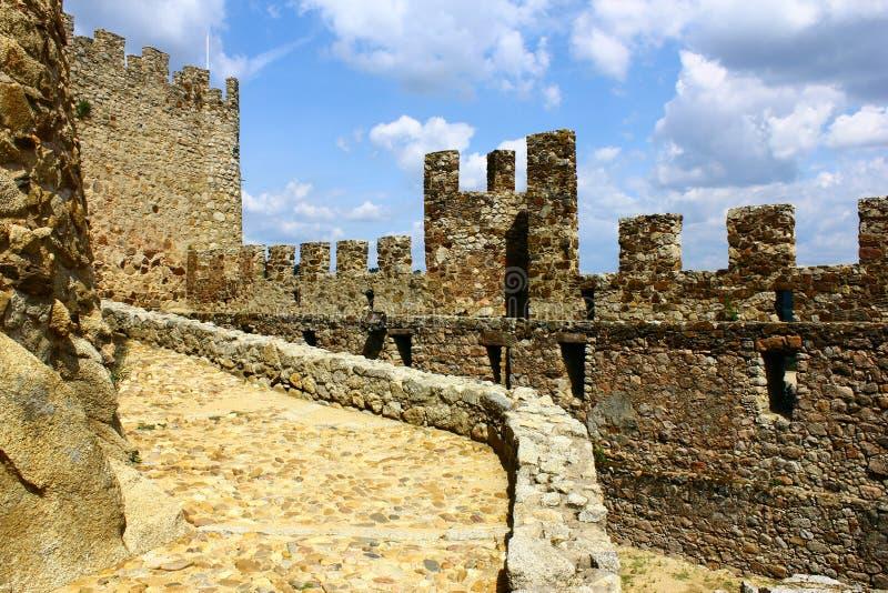 Schloss von Almourol bei Portugal lizenzfreies stockbild