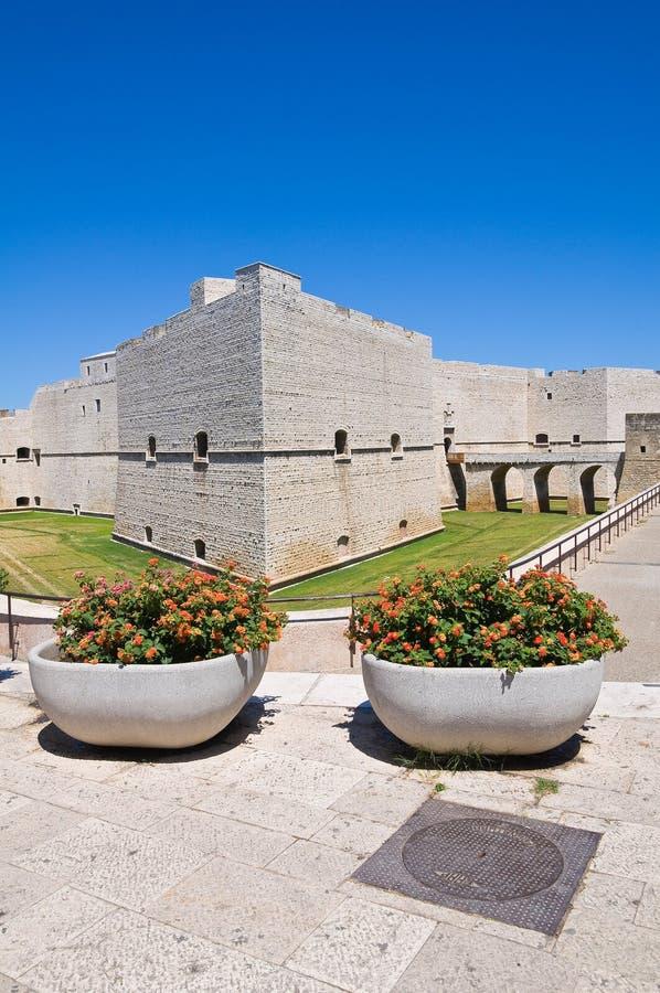 Schloss von Barletta. Puglia. Italien. stockbild