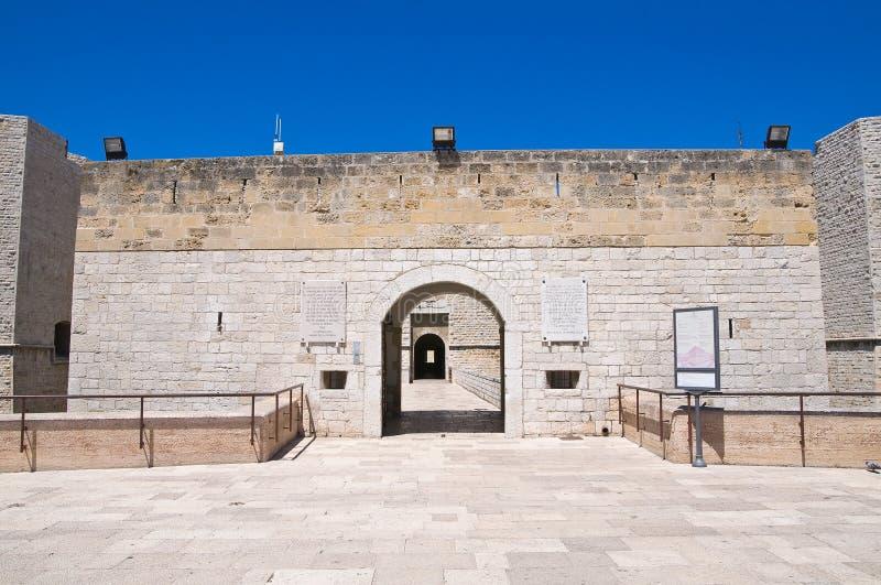 Schloss von Barletta. Puglia. Italien. lizenzfreies stockfoto