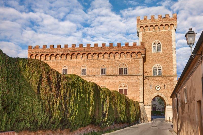 Schloss von Bolgheri in Toskana, Italien stockfoto