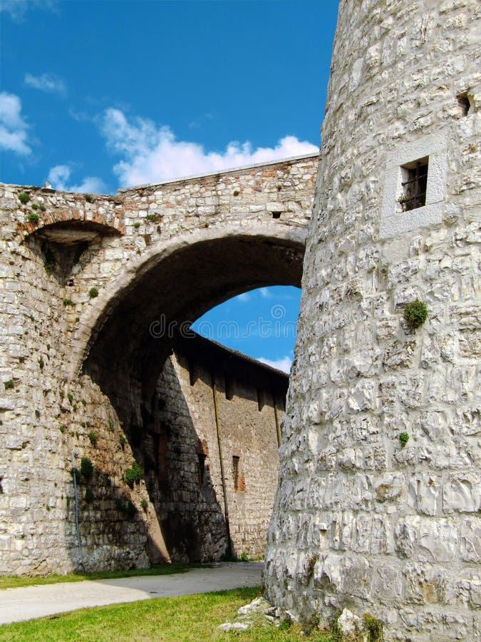 Schloss von Brescia lizenzfreies stockbild