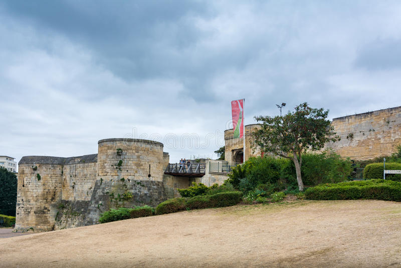 Schloss von Caen, Frankreich lizenzfreies stockfoto