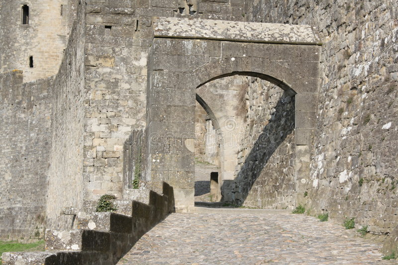 Schloss von Carcassonne lizenzfreie stockfotografie