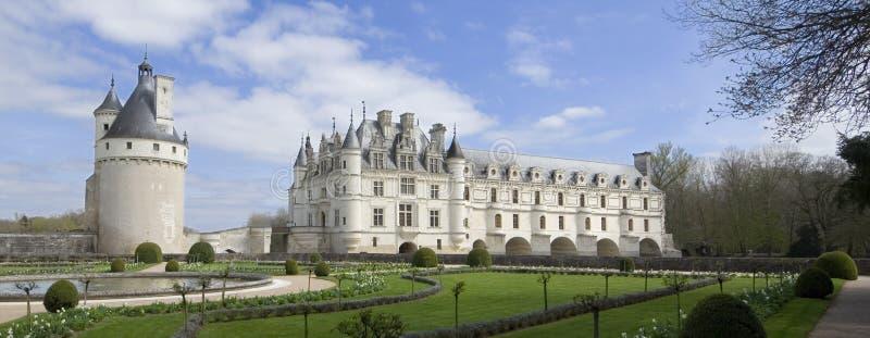Schloss von Chenonceau lizenzfreies stockfoto