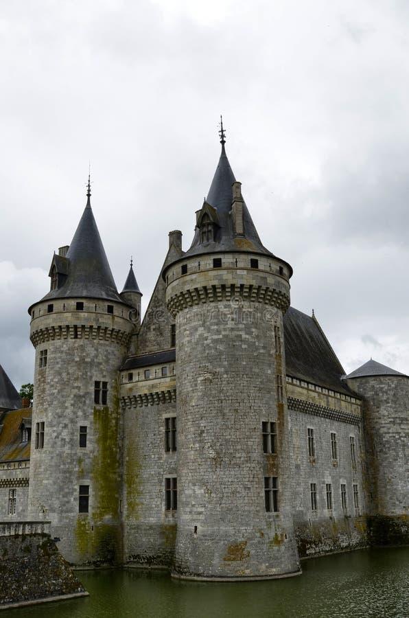 Schloss von der Besudelte-sur-Loire, die Loire Region, Frankreich lizenzfreies stockfoto