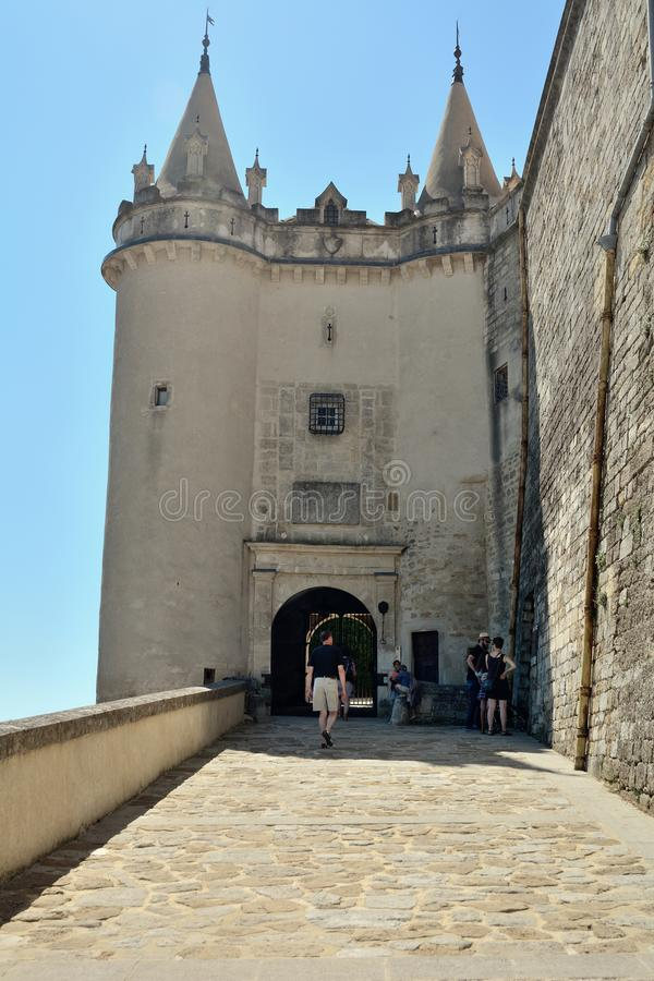 Schloss von Grignan lizenzfreie stockbilder