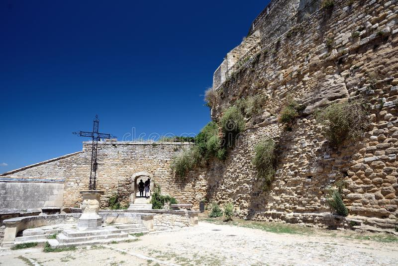 Schloss von Grignan stockbilder
