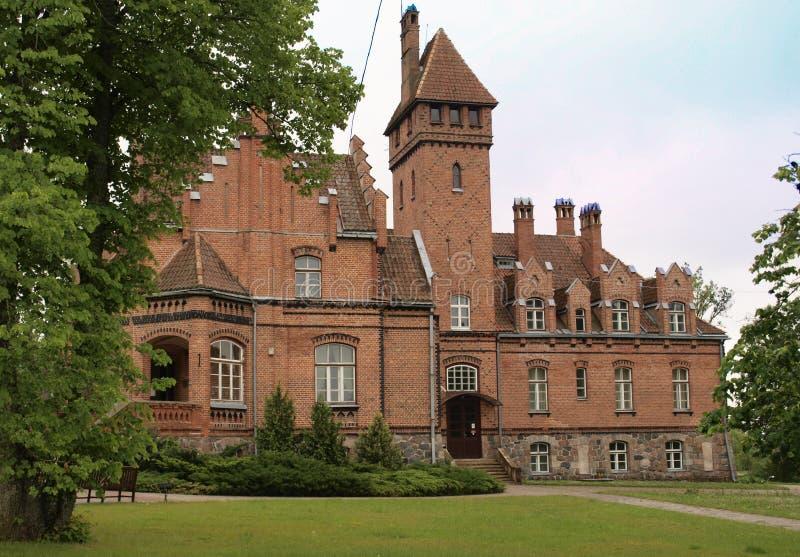 Schloss von Jaunmoku. stockfotografie
