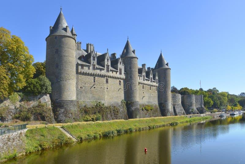 Schloss von Josselin in Frankreich lizenzfreie stockfotos
