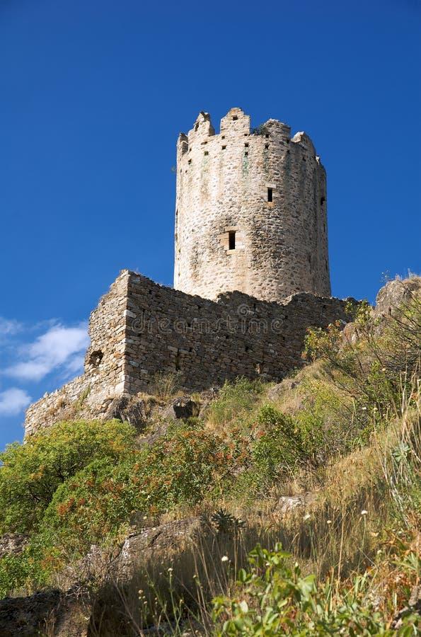 Schloss von Lastours 7 lizenzfreies stockbild