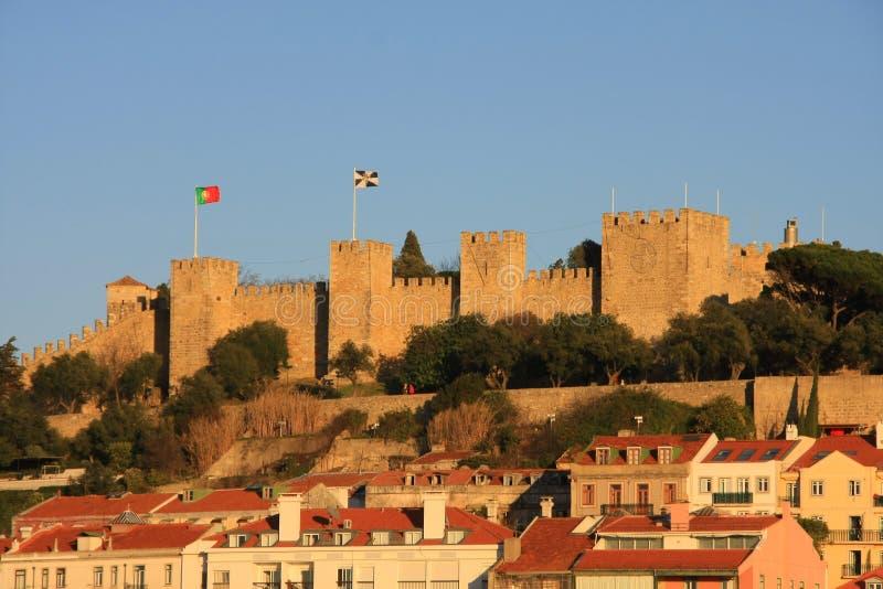 Schloss von Lissabon lizenzfreie stockbilder