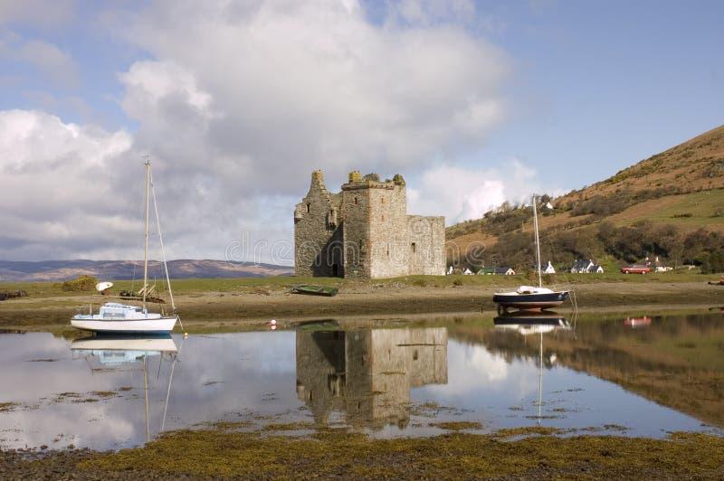 Schloss von Lochranza lizenzfreies stockbild