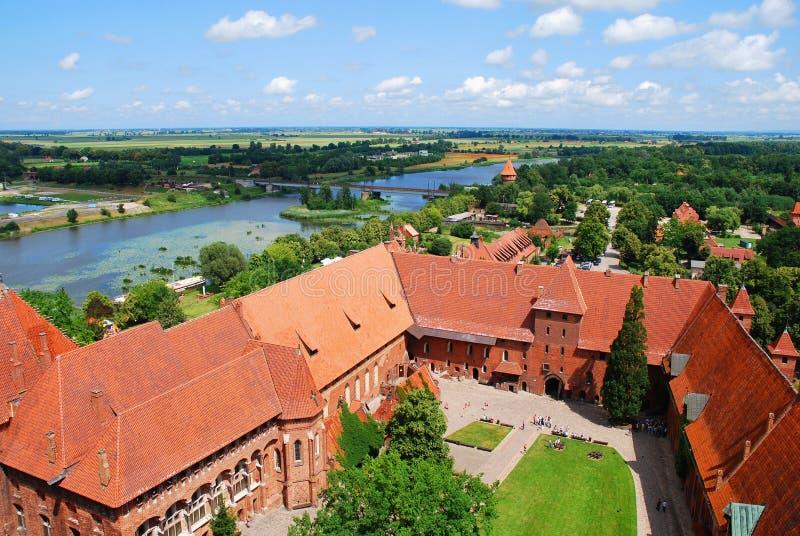 Schloss von Malbork stockfotografie