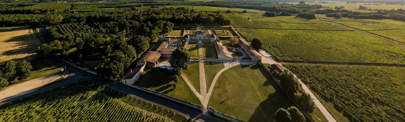 Schloss von Malle, Gironde, Sauternee, Frankreich lizenzfreies stockbild