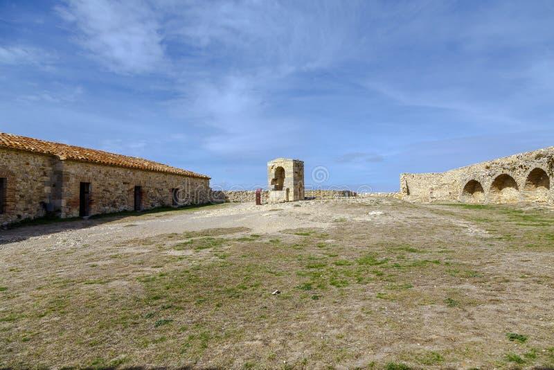 Schloss von Morella, in Castellon, Spanien stockbilder
