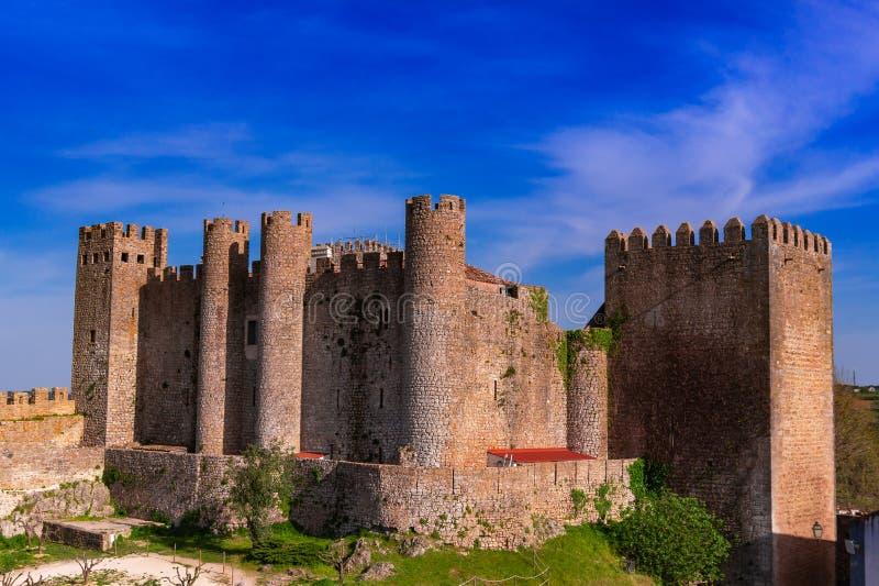 Schloss von Obidos in der mittelalterlichen Stadt von Obidos lizenzfreie stockbilder