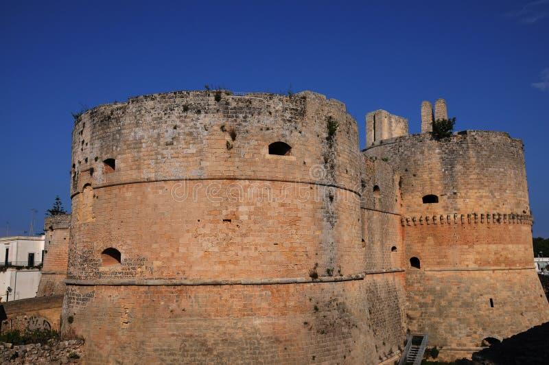 Schloss von Otranto stockbild
