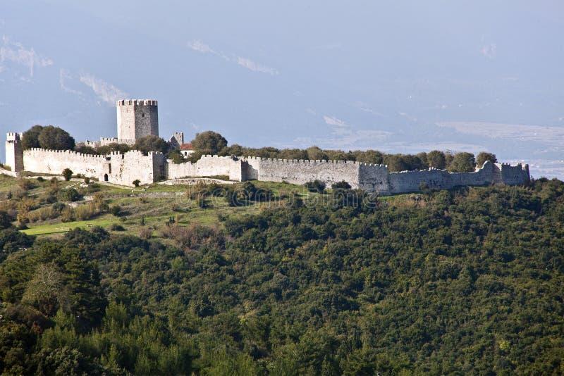 Schloss von Platamonas stockfotos