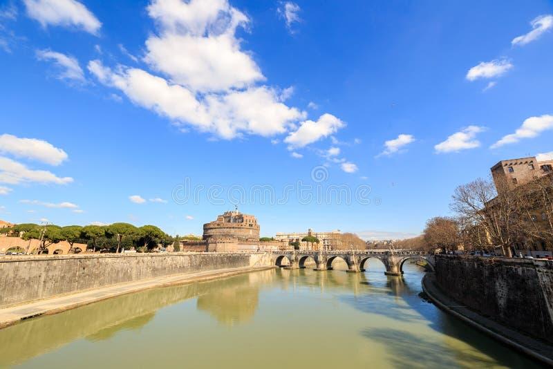 Schloss von San Angelo, Rom, Italien lizenzfreie stockfotos