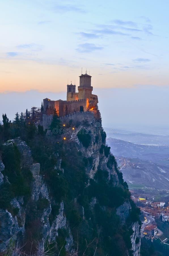 Schloss von San Marino lizenzfreies stockfoto