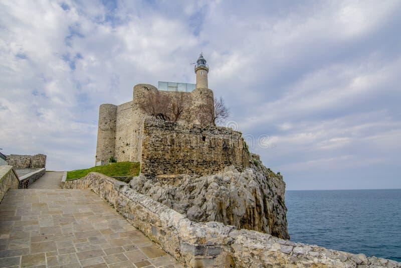 Schloss von Santa Ana von Castro Urdiales lizenzfreies stockbild