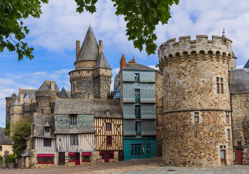 Schloss von Vitre in Bretagne - Frankreich lizenzfreie stockbilder