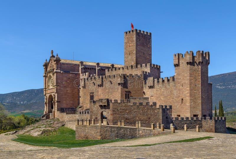 Schloss von Xavier, Spanien lizenzfreies stockbild