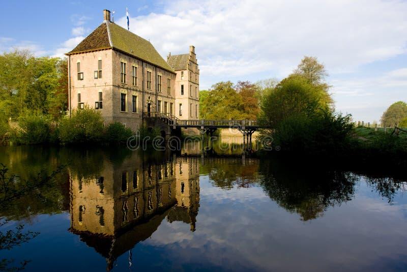 Schloss in Vorden, Gelderland, die Niederlande lizenzfreie stockfotografie