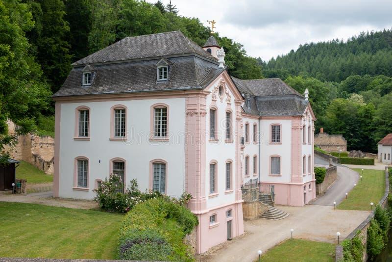 Schloss Schloss Weilerbach lizenzfreies stockbild
