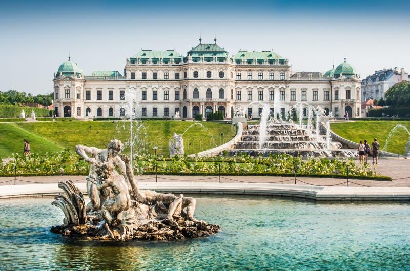 Schlossbelvedere, Wenen, Oostenrijk royalty-vrije stock afbeelding