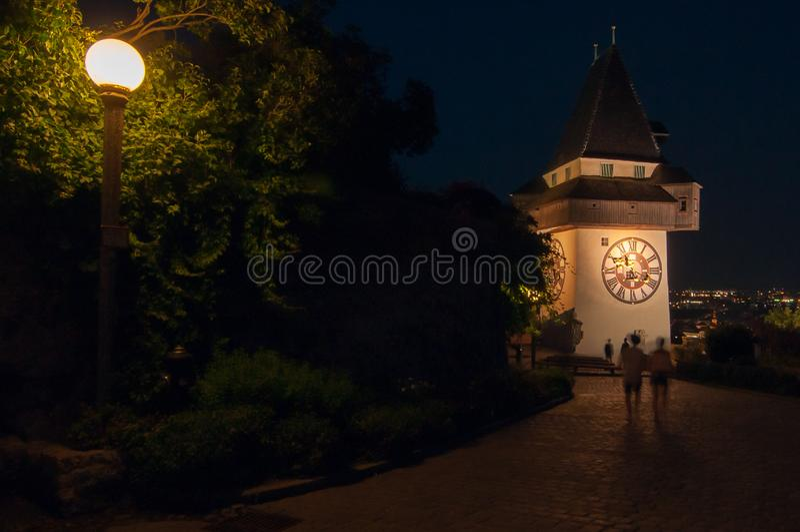 Schlossberg Graz, Austria fotografía de archivo