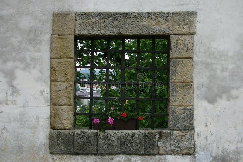 Schlossfenster lizenzfreie stockbilder