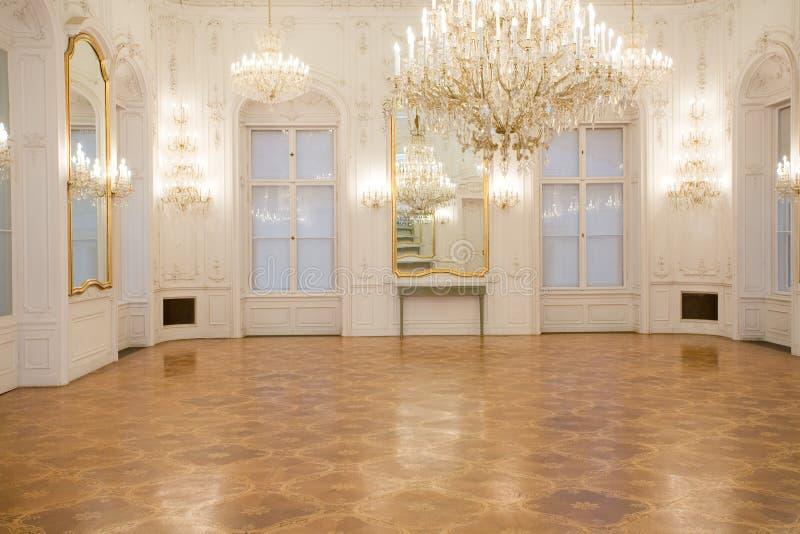 Schlossinnenraum, Spiegelraum stockfotografie
