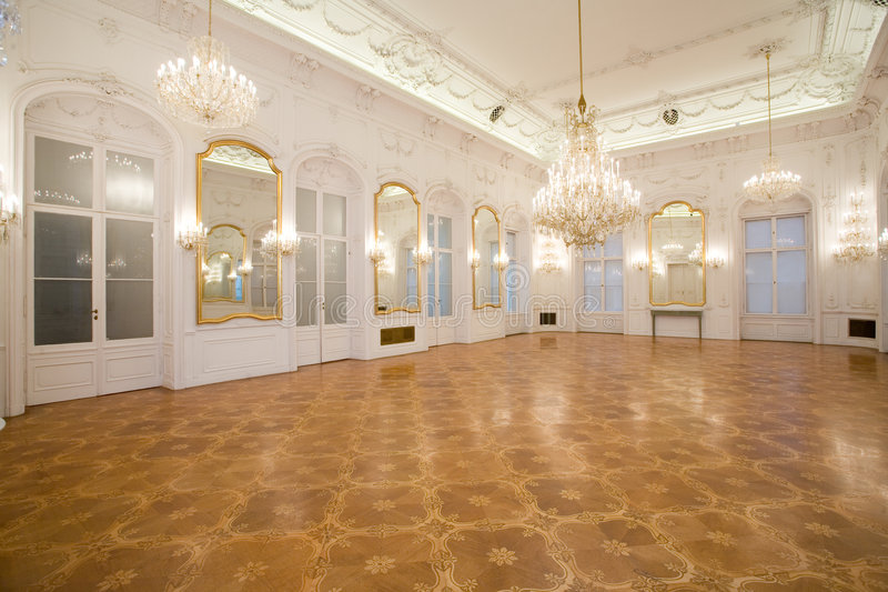 Schlossinnenraum, Spiegelraum lizenzfreies stockbild