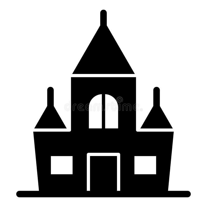 Schlosskörperikone Festungsvektorillustration lokalisiert auf Weiß Fort Glyph-Artdesign, bestimmt für Netz und APP vektor abbildung