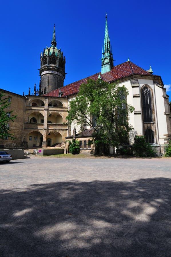schlosskirchewittenberg arkivbilder