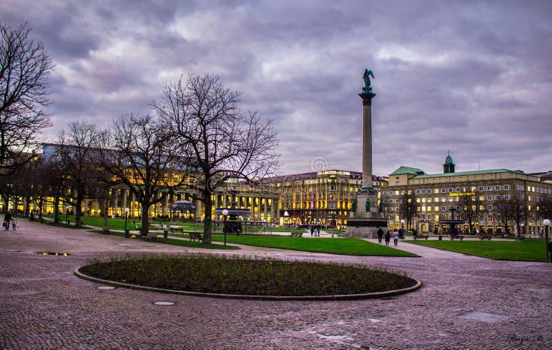 Schlossplatz Штутгарт стоковое изображение rf