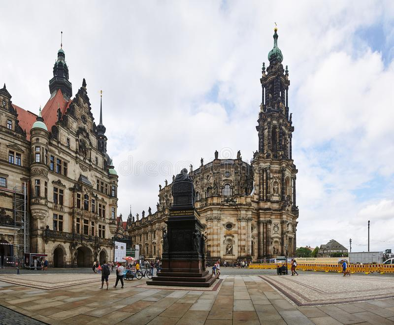 Schlossplatz, town square in Dresden, Germany royalty free stock photography