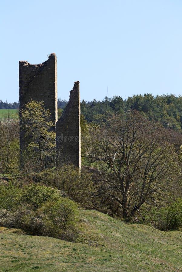 Schlossruine Bechthal im Bayern in Deutschland lizenzfreie stockfotos