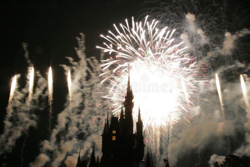 Schlossschattenbild bei Disneyworld lizenzfreie stockfotografie